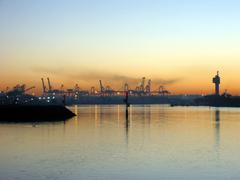 City ports Stock Photos