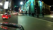 Stock Video Footage of Driving Hollywood Boulevard Near Argyle Avenue- Night