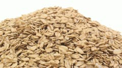 Regular oats zoom in 3 Stock Footage