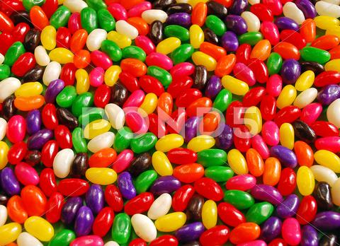 Stock photo of Colorful jellybeans