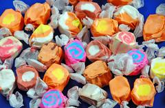 Wrapped taffy candy Stock Photos
