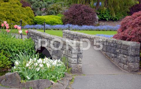 Stock photo of garden walkway