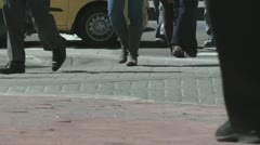 Pedestrians, People Walking and Shopping Local Businesses Stock Footage
