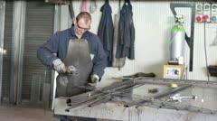 Grinding : aluminium, steel, iron Stock Footage