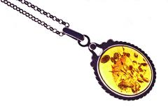 The Swinging Amber Pendant Stock Photos