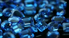 Gemstones - Blue Sapphires Stock Footage