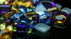 Gemstones - Assortment (2) Stock Footage