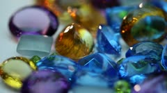 Gemstones - Assortment - stock footage