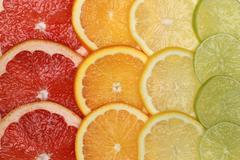 Citrus fruits background Stock Photos