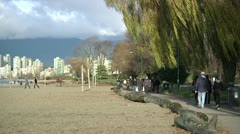 Kitsilano Beach Park in Vancouver Stock Footage