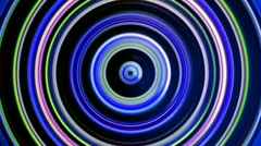 Revolving glowing blue color circles loop. - stock footage