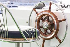 Yacht rudder Stock Photos