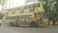 Stock Video Footage of Bus parked in Mumbai street