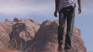 Stock Video Footage of Walking in Desert, Wadi Rum, Jordan