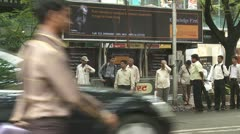 Waiting for a bus in Mumbai Stock Footage