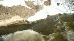 Frozen River in Winter Stock Footage