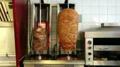 Meat rotisserie Stock Footage