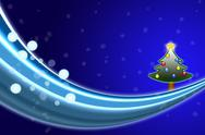 Christmas tree in the snow Stock Illustration