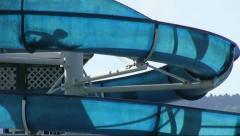 waterslide, Aquapark slides - stock footage