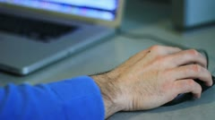 Man using a laptop Stock Footage