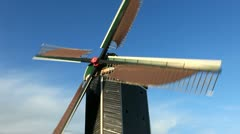 Dutch Windmills in the Netherlands Stock Footage