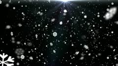 Snow Flakes Background Loop Stock Footage
