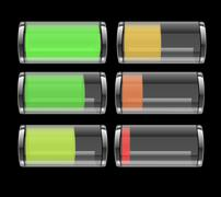 Stock Illustration of transparent battery icon
