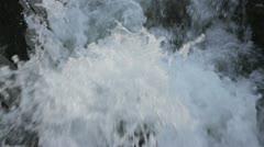 Watersplash on river Stock Footage