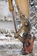 Stock Photo of construction hydraulic crane