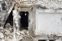 Stock Photo of building demolition