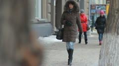 People walking on the street Stock Footage