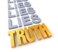 Truth prevails Stock Illustration