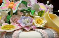 Stock Photo of flowers cake