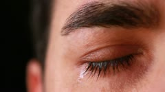 Young man eye close-up - stock footage