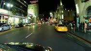 Stock Video Footage of Saturday Night Traffic And Tourists On Hollywood Boulevard 3