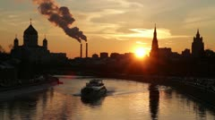 Moscow at sunset Stock Footage