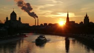 Stock Video Footage of Moscow at sunset