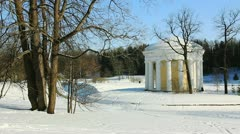 Temple of Friendship in Pavlovsk, the environ of St. Petersburg, Russia Stock Footage