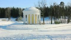 PAN: Temple of Friendship in Pavlovsk, St. Petersburg, Russia Stock Footage