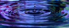 Water drop close up Stock Photos