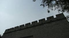 Ancient city Great Wall texture.roof of Forbidden City palace.Weathering. Stock Footage