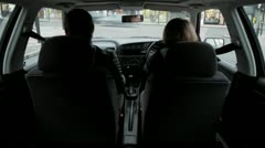 Back of car london driving Stock Footage