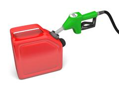 filling with gas - stock illustration