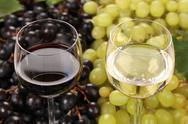 Stock Photo of white wine and red wine in glasses