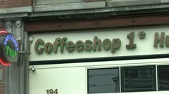 Coffeshop in Amsterdam Stock Footage