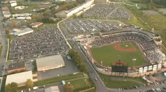 Aerial Baseball Field 1 Stock Footage