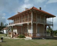 hacienda in guadeloupe - stock photo