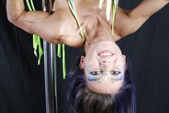 pole acrobat - stock photo