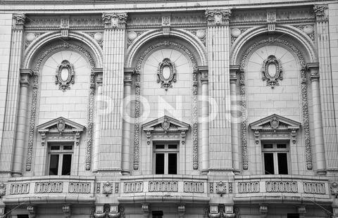 Stock photo of exterior of old historical building