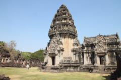 the principal tower at phimai historical park - stock photo